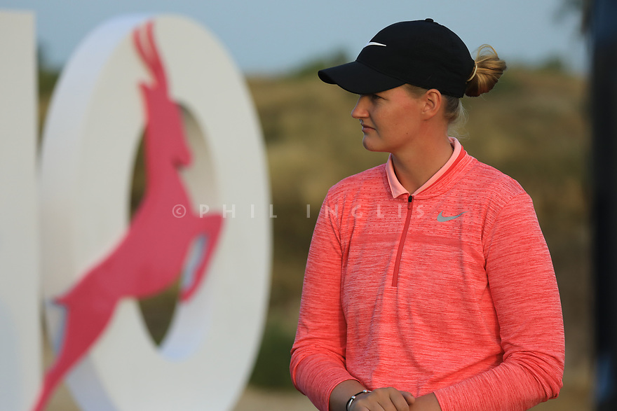 Gabriella Cowley (ENG) during the first round of the Fatima Bint Mubarak Ladies Open played at Saadiyat Beach Golf Club, Abu Dhabi, UAE. 10/01/2019<br /> Picture: Golffile   Phil Inglis<br /> <br /> All photo usage must carry mandatory copyright credit (© Golffile   Phil Inglis)