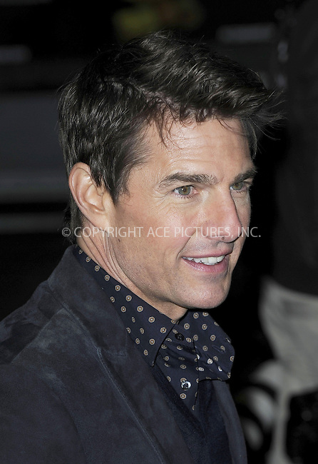 WWW.ACEPIXS.COM....US Sales Only....December 10 2012, New York City....Tom Cruise at the world premiere of 'Jack Reacher' at The Odeon Leicester Square on December 10 2012 in London....By Line: Famous/ACE Pictures......ACE Pictures, Inc...tel: 646 769 0430..Email: info@acepixs.com..www.acepixs.com