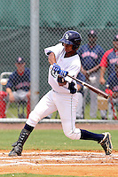 Jhonatan Gomez (17) Outfielder for the GCL Rays during a game against the GCL Red sox on July 15th, 2010 at Charlotte Sports Park in Port Charlotte Florida. The GCL Rays are the the Gulf Coast Rookie League affiliate of the Tampa Bay Rays. Photo by: Mark LoMoglio/Four Seam Images