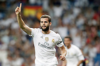 Real Madrid's Nacho Fernandez celebrates goal during XXXVI Santiago Bernabeu Trophy. August 18,2015. (ALTERPHOTOS/Acero)