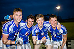 Josh Holland, John Spillane, Patrick Clifford and Danny Cahalane Templenoe celebrate after defeating  Coolmeen in the Munster Junior Championship final in Mallow on Sunday