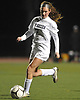 Alexandra Hunter #7 of Eastport-South Manor moves a ball downfield during Game 2 of two Long Island varsity girls soccer senior all-star games at Farmingdale State College on Friday, Nov. 24, 2017.