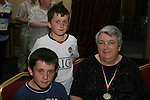 Ryan and Andrew with Rosie Matthews at the Special Olympics Awards Night in the Westcourt Hotel...Photo NEWSFILE/Jenny Matthews.(Photo credit should read Jenny Matthews/NEWSFILE)....This Picture has been sent you under the condtions enclosed by:.Newsfile Ltd..The Studio,.Millmount Abbey,.Drogheda,.Co Meath..Ireland..Tel: +353(0)41-9871240.Fax: +353(0)41-9871260.GSM: +353(0)86-2500958.email: pictures@newsfile.ie.www.newsfile.ie.FTP: 193.120.102.198.