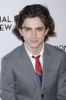 NEW YORK, NY - JANUARY 9: Timoth&eacute;e Chalamet at The National Board of Review Annual Awards Gala at Cipriani 42nd Street on January 9, 2018 in New York City. <br /> CAP/MPI99<br /> &copy;MPI99/Capital Pictures