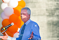 (Photo by Don Milici, Freelance Photographer)<br /> <br /> As part of Occidental College's Homecoming & Family Weekend, photo of the dedication and ribbon cutting of the McKinnon Family Tennis Center, Friday, Oct. 18, 2019 at Kemp Stadium.<br /> <br /> (Photo by Don Milici, Freelance Photographer)