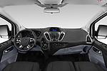Stock photo of straight dashboard view of 2018 Ford Transit-Custom Trend 4 Door Passanger Van Dashboard