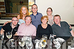 John and Anne Phelan (centre) from Cork celebrated their 50th Wedding Anniversary with Colm, Alison, Garry, Marie and Garreth Phelan in the Lord Kenmare Restaurant, Killarney last Saturday night.