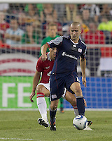 New England Revolution forward Rajko Lekic (10) controls the ball. In a Herbalife World Football Challenge 2011 friendly match, Manchester United FC defeated the New England Revolution, 4-1, at Gillette Stadium on July 13, 2011.