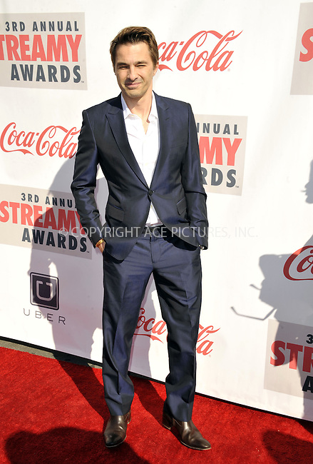 WWW.ACEPIXS.COM......February 17, 2013, Los Angeles, CA.....Olivier Martinez arriving at the 3rd annual Streamy Awards at The Hollywood Palladium on February 17, 2013 in Los Angeles, California.........By Line: Peter West/ACE Pictures....ACE Pictures, Inc..Tel: 646 769 0430..Email: info@acepixs.com