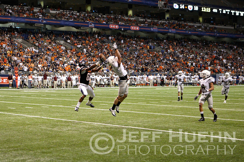 SAN ANTONIO, TX - SEPTEMBER 10, 2011: The McMurry University War Hawks vs. the University of Texas at San Antonio Roadrunners Football at the Alamodome. (Photo by Jeff Huehn)