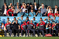 Swansea City Manager, Paul Clement, looks on together with his coaching staff during Barnet vs Swansea City, Friendly Match Football at the Hive Stadium on 12th July 2017