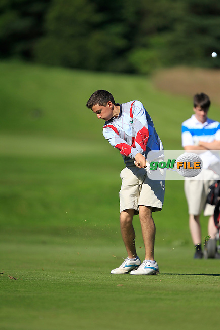 Philip O'Sullivan (Malone) on the 7th during Round 2 of the Ulster Boys' Amateur Open Championship in Clandeboye Golf Club on Wednesday 9th July 2014.<br /> Picture:  Thos Caffrey / www.golffile.ie