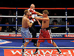 Billy Joe Saunders defeats Matt Scriven in the 2nd round at the MEN Arena on July 18, 2009 in Manchester, England.