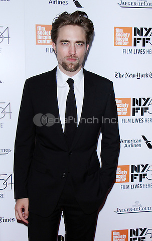 NEW YORK, NY-October 15:Robert Pattinson at NYFF54 Closing Night Gala and World Premiere Presentation of The Lost City of Z at Lincoln Center Alice Tully Hall in New York.October 15, 2016. Credit:RW/MediaPunch