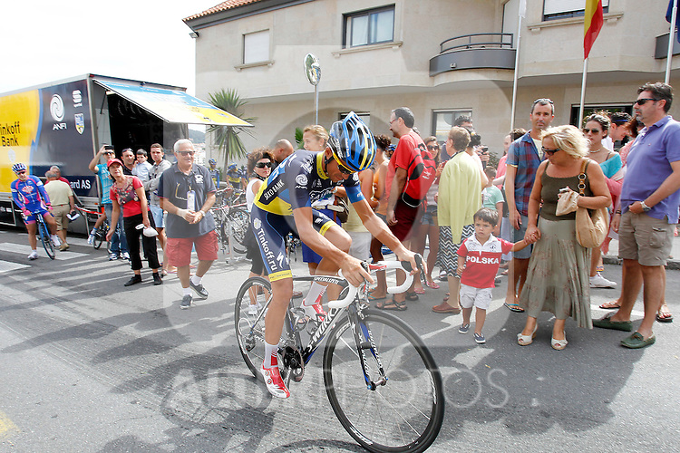 Alberto Contador during a training session in the rest day of La Vuelta 2012.August 27,2012. (ALTERPHOTOS/Paola Otero)