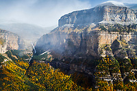 canyon and mountains, Ordesa y Monte Perdido National Park, Pyrenees, Huesca, Spain