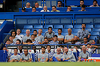 Chelsea coaching staff and substitutes during Chelsea vs Lyon, International Champions Cup Football at Stamford Bridge on 7th August 2018