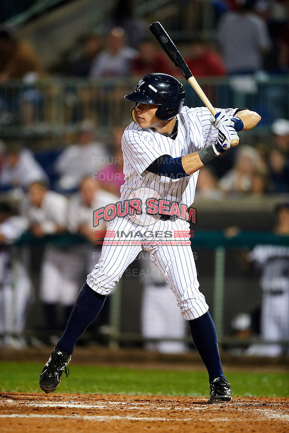 Staten Island Yankees first baseman Matt Snyder #45 during the NY-Penn League All-Star Game at Eastwood Field on August 14, 2012 in Niles, Ohio.  National League defeated the American League 8-1.  (Mike Janes/Four Seam Images)