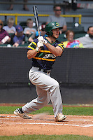 Beloit Snappers Brett Siddall (35) swings during the Midwest League game against the Clinton LumberKings at Ashford University Field on June 12, 2016 in Clinton, Iowa.  The LumberKings won 1-0.  (Dennis Hubbard/Four Seam Images)