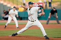 Starting pitcher Erick Carrillo #20 of the Greensboro Grasshoppers in action against the Delmarva Shorebirds at NewBridge Bank Park April 15, 2010, in Greensboro, North Carolina.  Photo by Brian Westerholt / Four Seam Images