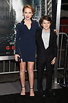 HOLLYWOOD, CA - OCTOBER 16: Actress Talitha Bateman (L) and actor Gabriel Bateman attend the premiere of Warner Bros. Pictures' 'Geostorm' at the TCL Chinese Theatre on October 16, 2017 in Hollywood, California.