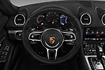 Car pictures of steering wheel view of a 2017 Porsche 718 Boxster 2 Door Convertible
