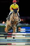 Rider competes at the HKJC 130th Anniversary Races of the Riders during the Longines Hong Kong Masters 2015 at the AsiaWorld Expo on 13 February 2015 in Hong Kong, China. Photo by Juan Flor / Power Sport Images