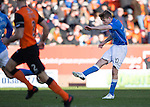 Dundee United v St Johnstone.....21.02.15<br /> David Wotherspoon's first half shot is saved by Arabs keeper Michal Szromnik<br /> Picture by Graeme Hart.<br /> Copyright Perthshire Picture Agency<br /> Tel: 01738 623350  Mobile: 07990 594431