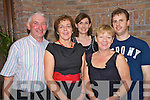 Pictured enjoying the Stepping it out set dancing club ceili in Darby O'Gills, Killarney, on Sunday were Jerry O'Rourke, Mary Philpott, Phil O'Sullivan, Patricia O'Connor and Ulton Mulcahy.
