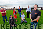 Members of Ballyheigue Community Alert standing in Ballyheigue on Monday.<br /> Front right: RisteardO'Fuarain.<br /> Kneeling Patrick Duggan and Richard Stack.<br /> Back l to r: Frank Clannen, Collette Casey Goggin, Frank Carroll and Paul Dineen.