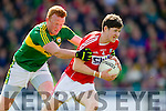 Johnny Buckley Kerry in action against Kevin Crowley Cork in the National Football league in Austin Stack Park, Tralee on Sunday.