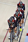Japan team group (JPN), <br /> AUGUST 28, 2018 - Cycling - Track : Women's Team Pursuit Round 1 at Jakarta International Velodrome during the 2018 Jakarta Palembang Asian Games in Jakarta, Indonesia. <br /> (Photo by MATSUO.K/AFLO SPORT)