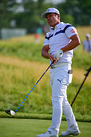 Hideto Tanihara (JAP) watches his tee shot on 12 during Thursday's round 1 of the 117th U.S. Open, at Erin Hills, Erin, Wisconsin. 6/15/2017.<br /> Picture: Golffile | Ken Murray<br /> <br /> <br /> All photo usage must carry mandatory copyright credit (&copy; Golffile | Ken Murray)