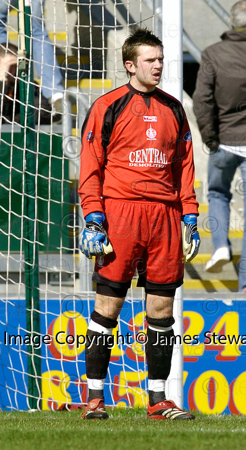 09/04/2006         Copyright Pic: James Stewart.File Name : sct_jspa10_falkirk_v_dundee_utd.FALKIRK KEEPER MARK HOWARD....Payments to :.James Stewart Photo Agency 19 Carronlea Drive, Falkirk. FK2 8DN      Vat Reg No. 607 6932 25.Office     : +44 (0)1324 570906     .Mobile   : +44 (0)7721 416997.Fax         : +44 (0)1324 570906.E-mail  :  jim@jspa.co.uk.If you require further information then contact Jim Stewart on any of the numbers above.........