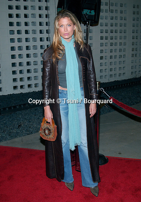 """Sonya Walger arriving at the premiere of """"Femme Fatale"""" at the Cinerama Dome in Los Angeles. November 4, 2002"""