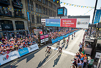 Picture by SWpix.com - 06/05/2018 - Cycling - 2018 Tour de Yorkshire - Stage 4: Halifax to Leeds - Greg Van Avermaet of BMC Racing Team crosses the line in Leeds