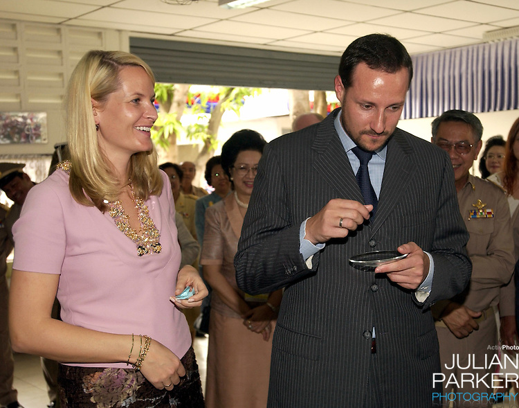 Crown Prince Haakon & Crown Princess Mette-Marit of Norway's visit to Thailand..Visit to the Kredtrakarn Centre near Bangkok..