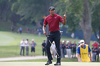 Tiger Woods (USA) putts out on the 7th hole during the final round of the 100th PGA Championship at Bellerive Country Club, St. Louis, Missouri, USA. 8/12/2018.<br /> Picture: Golffile.ie | Brian Spurlock<br /> <br /> All photo usage must carry mandatory copyright credit (&copy; Golffile | Brian Spurlock)