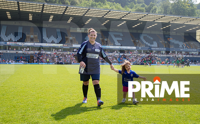 Sam Bailey pre match during the Sellebrity Soccer match for Wycombe Sports & Education Trust at Wycombe Wanderers, Adams Park, High Wycombe, England on 28 May 2018. Photo by Andy Rowland.