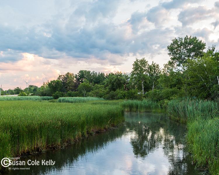 The Little River in Newbury, Massachusetts, USA
