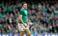 Saturday 10th February 2018 | Ireland vs Italy<br /> <br /> A happy Jacob Stockdale after  he scored his second try during the Six Nations Rugby Championship match between Ireland and Italy at the Aviva Stadium, Lansdowne Road,  Dublin Ireland. Photo by John Dickson / DICKSONDIGITAL