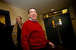 Former Arkansas governor Mike Huckabee arrives for a campaign event in Londonderry, N.H., on Saturday, Jan. 5, 2008.