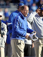 CHARLOTTESVILLE, VA- NOVEMBER 12: Head coach David Cutcliffe for the Duke Blue Devils reacts to a play during the game against the Virginia Cavaliers on November 12, 2011 at Scott Stadium in Charlottesville, Virginia. Virginia defeated Duke 31-21. (Photo by Andrew Shurtleff/Getty Images) *** Local Caption *** David Cutcliffe