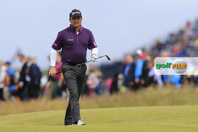 Graeme McDOWELL (NIR) walks to the 16th green during Sunday's Round  of the 144th Open Championship, St Andrews Old Course, St Andrews, Fife, Scotland. 19/07/2015.<br /> Picture Eoin Clarke, www.golffile.ie
