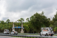 Contracted mutual assistance crews driving into Florida before Hurricane Dorian in Fla. on September 1, 2019.