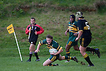 R. Dennison crosses the tryline for 1 of Pukekohes 4 first half tries. Counties Manukau Premier club rugby game between Bombay & Pukekohe played at Bombay on the 19th of May 2007. Pukekohe led 24 - 0 at halftime & went on to win 30 - 22.