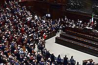 Roma, 16 Aprile 2015<br /> Partigiane e partigiani negli scranni dell'Aula<br /> Celebrazione alla Camera dei deputati del 70° anniversario della liberazione dal nazifascismo.