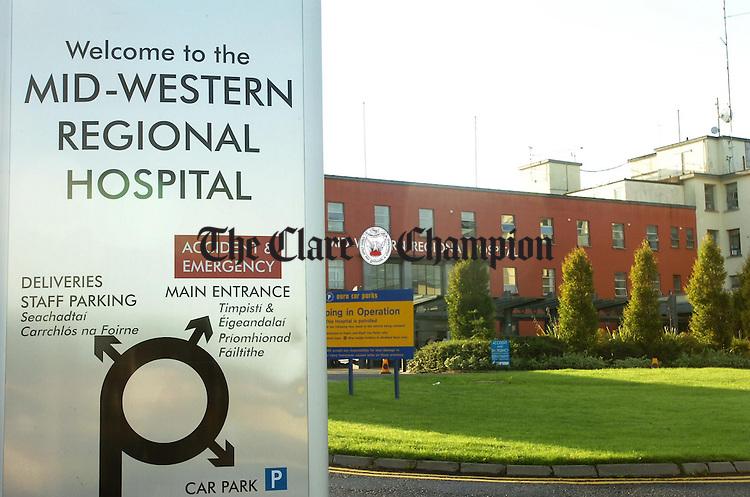 Mid Western Regional Hospital Limerick.Pic Arthur Ellis