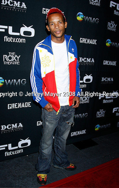 Rapper Tabi Bonney arrives at Flo Live Mobile TV Presents X-Games After Party presented by  Flo Live Mobile TV at The Roxy on August 1, 2008 in West Hollywood, California.