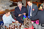 LABOUR: The Labour party leader Eamon Gilmore with north Kerry candidate Arthur Spring taking to Anne Casey and Siobhan Casey from Causeway at Der O'Sullivan delicatessen, Tralee on Friday.